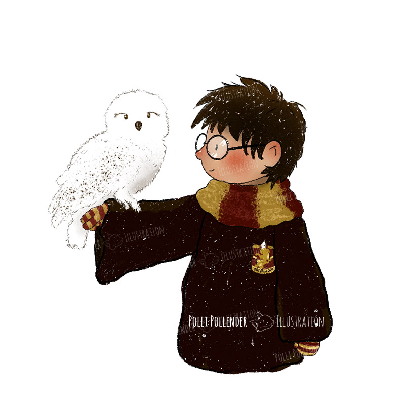 Harry Potter with Hedwig