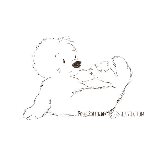 babyseal scribble sketch
